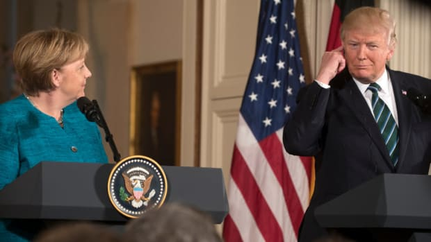 Merkel Rolls Eyes At Trump, Memes Are Created (Photos) Promo Image