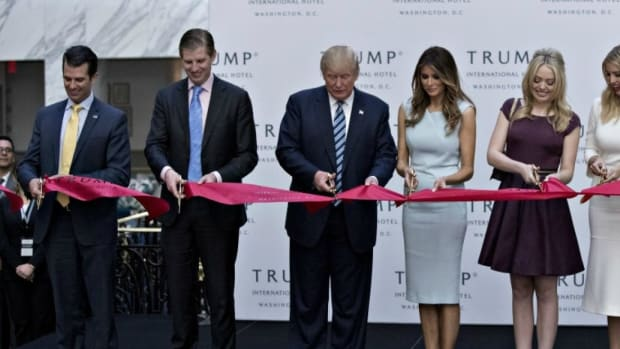 Trump Faces Calls To Sever Ties With Holdings  Promo Image