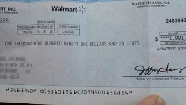 If Walmart Sends You This Check In The Mail, Throw It Away ASAP Promo Image