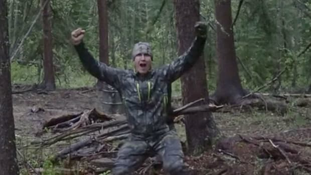 Hunter Films Himself Spearing Bear (Video) Promo Image