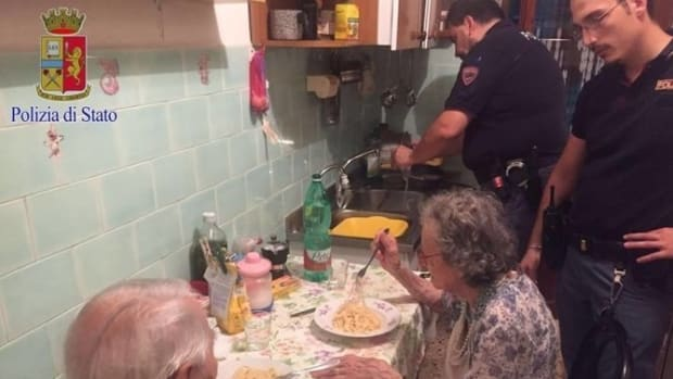 Police Arrive To Investigate Report Of Elderly Couple Crying, Quickly Discover What Happened Promo Image