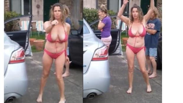 Bikini-Clad Woman's Racist Rant Goes Viral (Video) Promo Image
