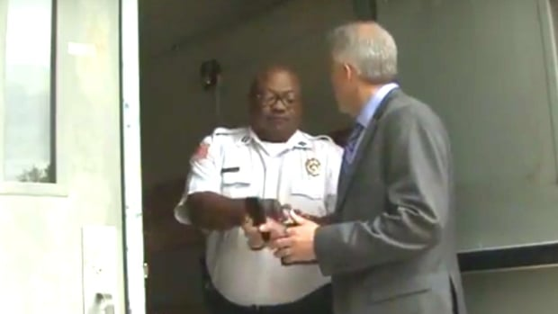 Reporter Cuffed For Trying To Film Public Meeting (Video) Promo Image