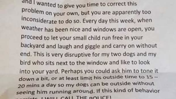 Mom Of 'Overly-Happy' Little Boy Receives Unexpected Letter From Next Door Neighbor (Photo) Promo Image