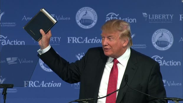Trump To Take Oath On The 'Lincoln Bible' And His Own Promo Image