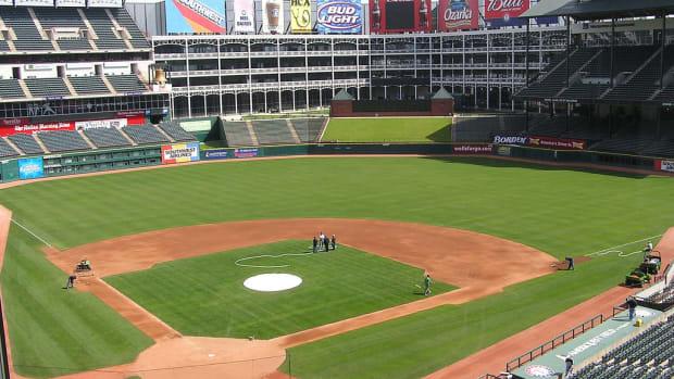 George W. Bush Photobombs Live TV At Rangers Game (Video) Promo Image