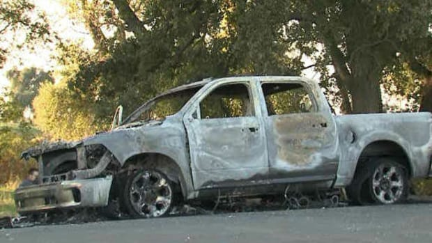 Trump Supporter's Truck Torched While Out With Son Promo Image