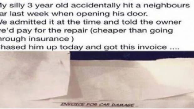 3-Year-Old Accidentally Dings Neighbor's Car, Mom Later Receives Invoice In Mail And Is Left Stunned (Photos) Promo Image