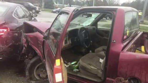 Man Crashes Into Several Cars, Blames Devil (Video) Promo Image