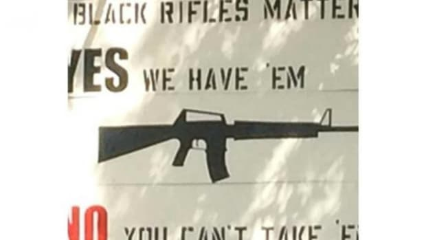 'Black Rifles Matter' Sign Sparks Controversy (Photo) Promo Image