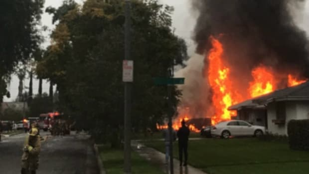Plane Crashes Into Two California Homes, Three Killed Promo Image