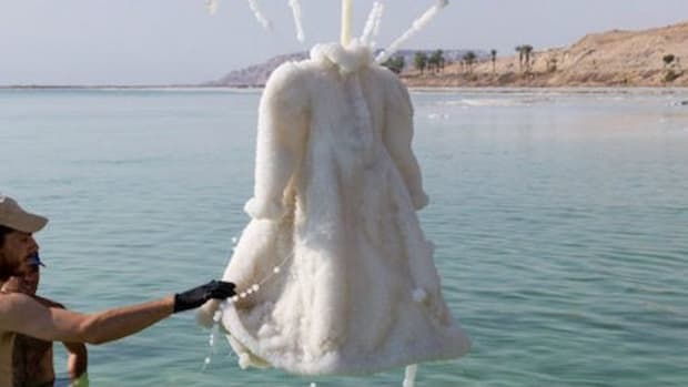 Dress Left In Dead Sea Undergoes Metamorphosis (Photos) Promo Image