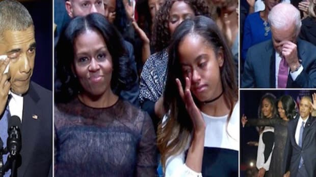 Michelle Obama Oddly Unemotional At Farewell Speech Promo Image