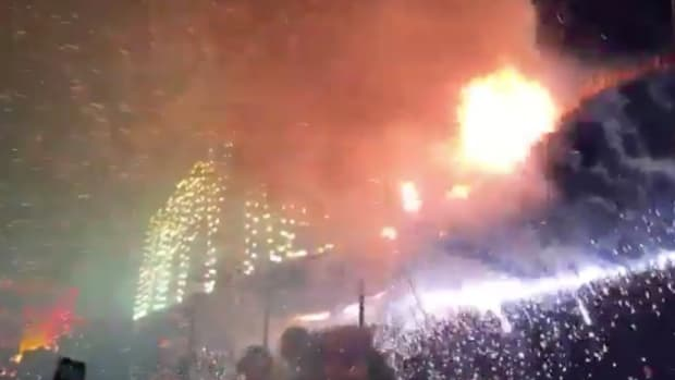 People Burned By Fireworks At New Year's Eve Party (Video) Promo Image