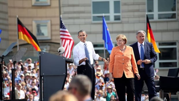 Obama In Berlin: 'We Can't Hide Behind A Wall' (Video) Promo Image