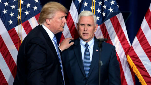 Poll: Trump And Pence Approval Ratings Hit New Low Promo Image
