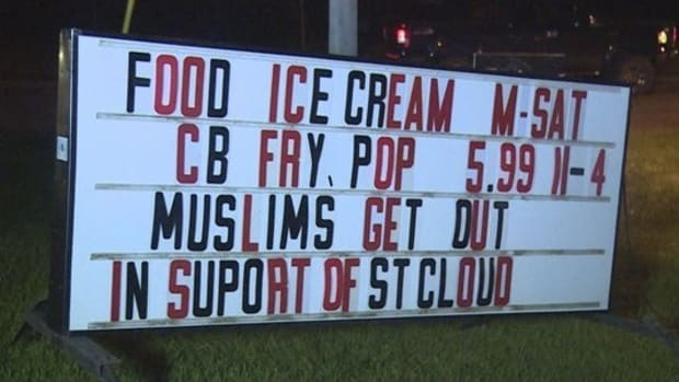 Anti-Muslim Sign Outside Restaurant Stirs Controversy Promo Image