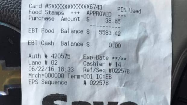 Shopper Finds Receipt, Sees Something Unexpected (Photo) Promo Image