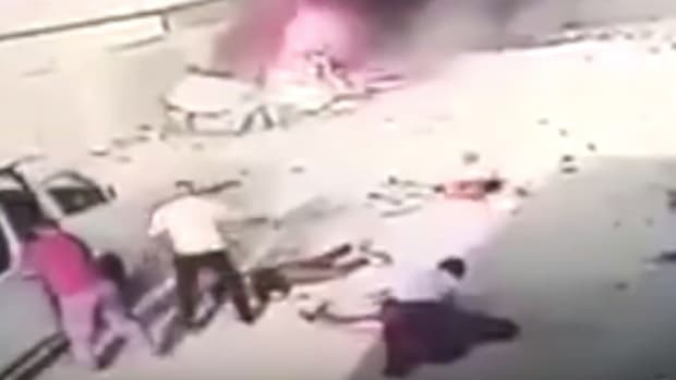 Did Iraqis Stage Fake Car Bomb Terrorist Attack? (Video) Promo Image