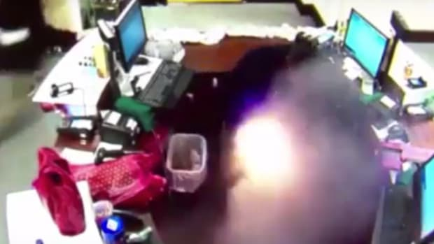 Man's E-Cigarette Explodes Inside Wine Store (Video) Promo Image