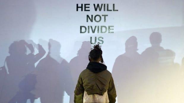 Shia LaBeouf Shouts Down Alleged White Supremacist (Video) Promo Image