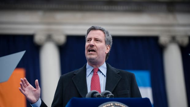 NYC Mayor De Blasio Defies Trump, Sessions And The NYPD Promo Image