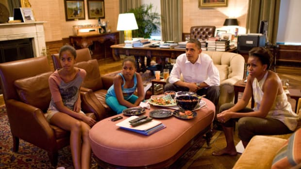 Obama Declares Himself A 'Proud Feminist' In Editorial Promo Image