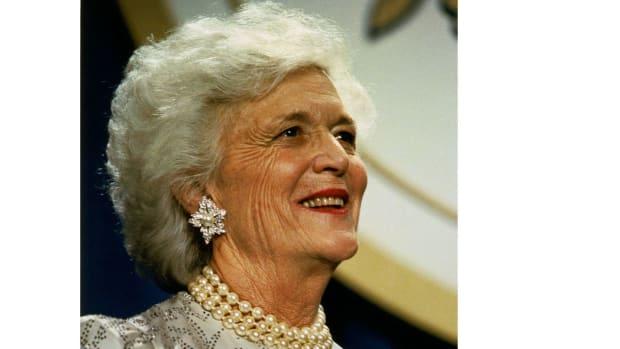 Barbara Bush Hospitalized Promo Image