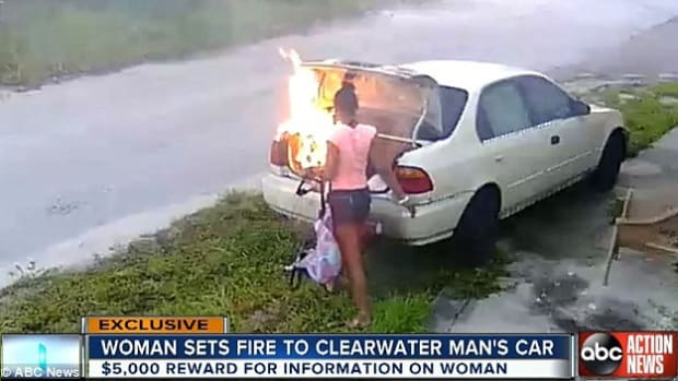 Woman Burns Ex's Car, Realizes Her Mistake (Video) Promo Image