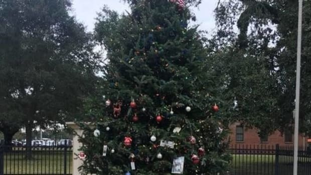 Christmas Tree Honoring Veterans Goes Viral (Photos) Promo Image