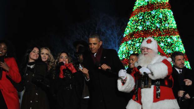 Malia Skips Pres. Obama's Final National Tree Lighting Promo Image