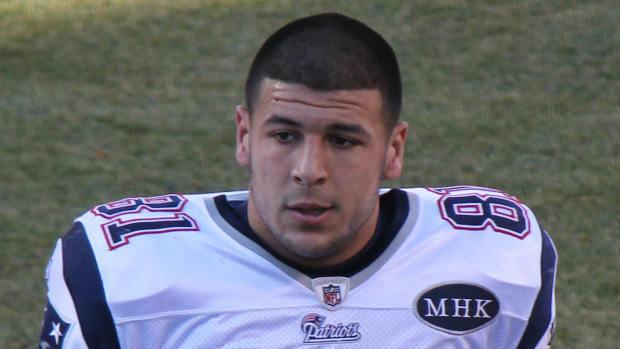 Patriot's Star Aaron Hernandez Commits Suicide Promo Image