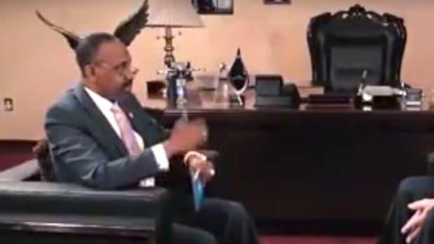 Protesters Interrupt Rich Pastor's Church Service (Video) Promo Image