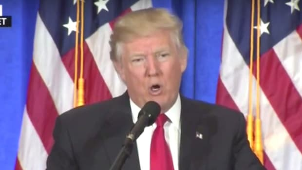 Trump Packed Press Conference With Paid Staffers (Video) Promo Image