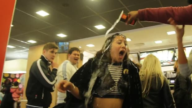 Girl Screams At Overweight Man For Eating At McDonald's, Doesn't Anticipate His Response (Video) Promo Image