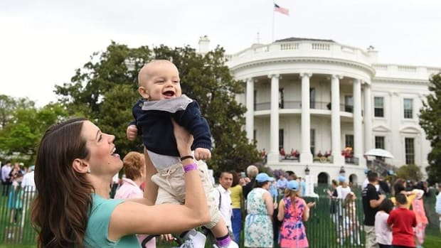Trump's Easter Egg Roll Full Of White Kids (Photo) Promo Image