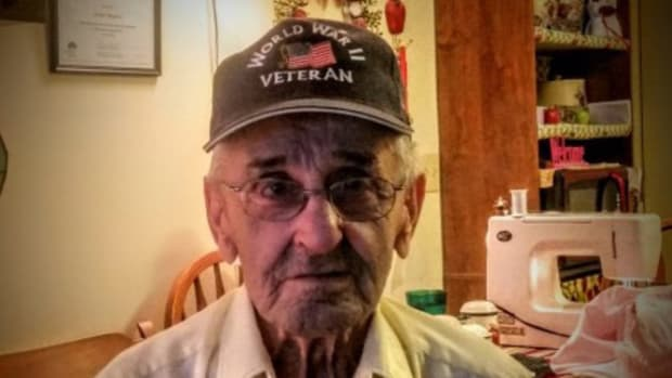 Woman Comes Behind WWII Vet In Checkout Line, Leaves Him In Tears Promo Image