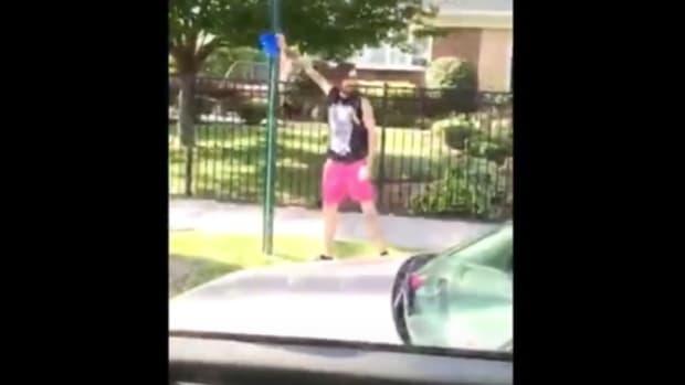 Man Rips Down 'Blue Lives Matter' Ribbons (Video) Promo Image