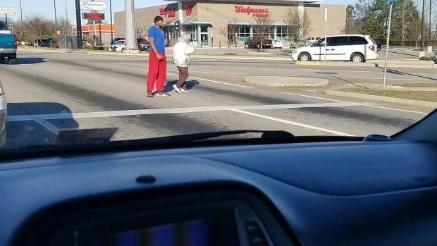 Photo Of Good Samaritan Helping Old Lady Goes Viral Promo Image