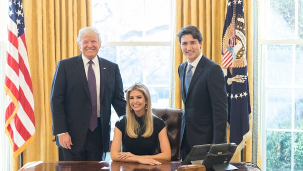 Ivanka Trump's Oval Office Chair Pic Riles Many Promo Image