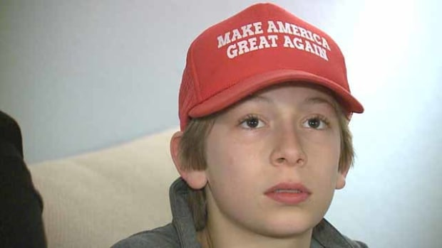Boy Bullied For Wearing Trump Hat (Video) Promo Image