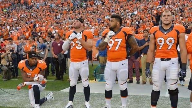 NFL Player Joins Kaepernick's National Anthem Protest, Loses Millions Promo Image