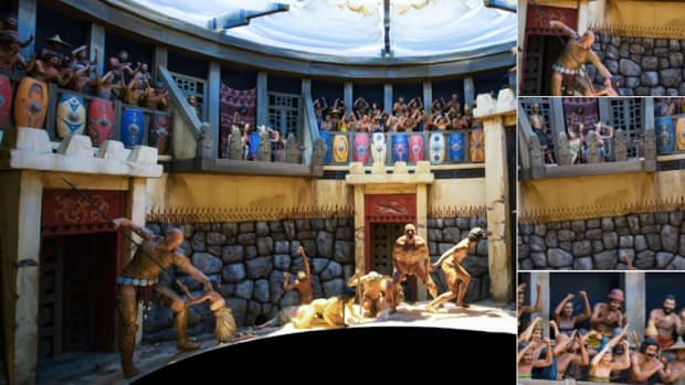 Creationist Exhibit: Dinosaurs, Giants, Humans Fight Promo Image
