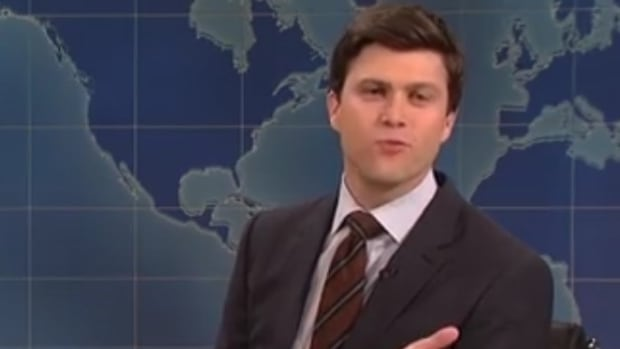 Colin Jost Faces Backlash For Transgender Joke On SNL Promo Image