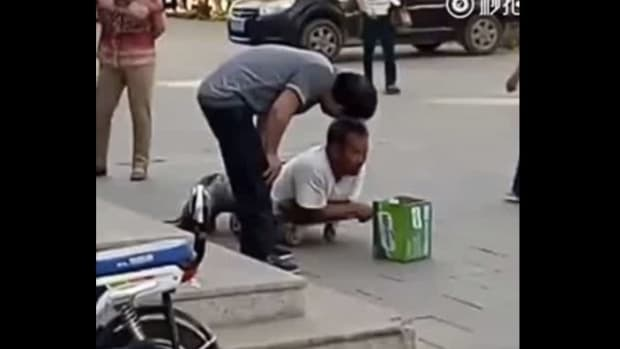Man Pretends To Be Disabled Beggar (Video) Promo Image