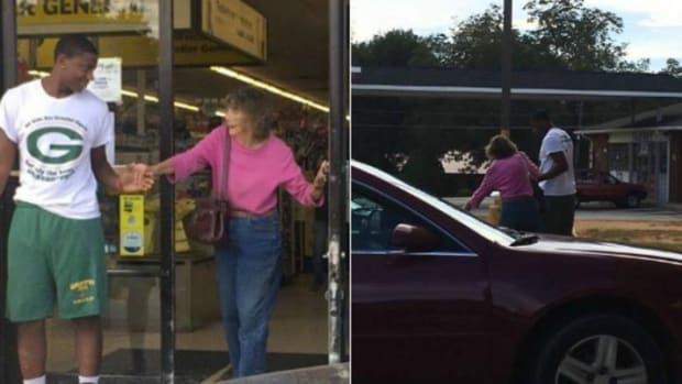 Teenager Helps Elderly Woman Shop At Dollar Store (Photos) Promo Image