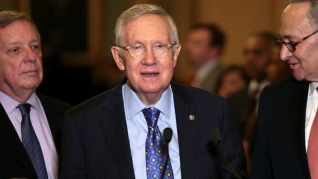Sen. Harry Reid Slams DNC In Outgoing Interview Promo Image