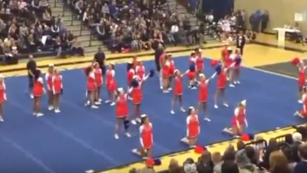Teen: Cheerleader Skirts Cause Impure Thoughts (Video) Promo Image