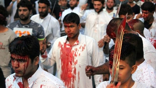 Muslims Cut Themselves As Religious Festival Begins (Photos) Promo Image