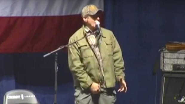Ted Nugent Grabs His Crotch At Trump Rally (Video) Promo Image